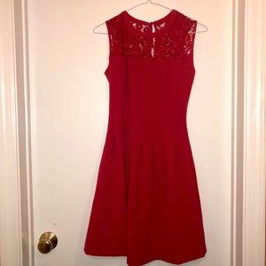 H&M Red Dress with Lace Detail